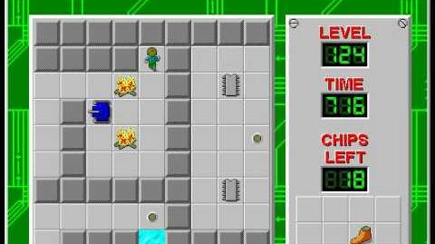 Chip's Challenge 1 level 124 solution - 667 seconds