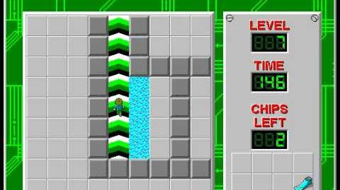 Chip's Challenge 1 level 7 solution - 139 seconds
