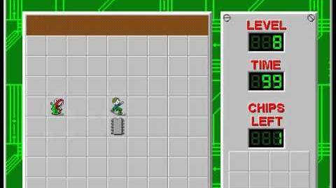 Chip's Challenge 1 level 8 solution - 96 seconds