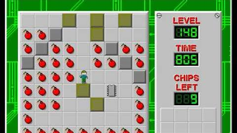 Chip's Challenge 1 level 148 solution - 629 seconds