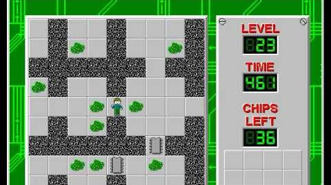 Chip's Challenge 1 level 23 solution - 433 seconds