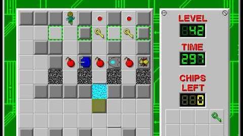CCLP2 level 42 solution - 246 seconds