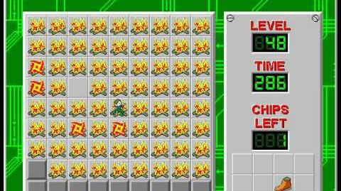 Chip's Challenge 1 level 48 solution - 277 seconds