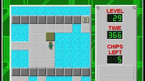 Chip's Challenge 1 level 29 solution - 302 seconds