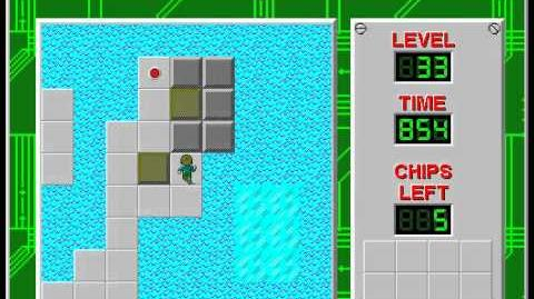 Chip's Challenge 1 level 33 solution - 683 seconds