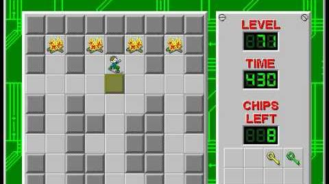 Chip's Challenge 1 level 71 solution - 355 seconds