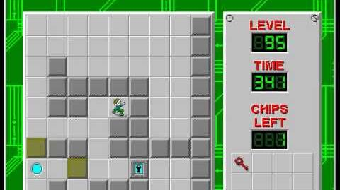 Chip's Challenge 1 level 95 solution - 335 seconds
