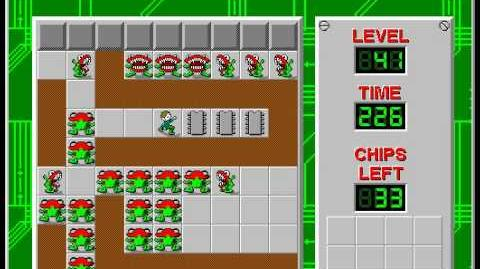 CCLP2 level 41 solution - 207 seconds