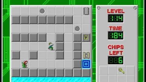 Chip's Challenge 1 level 114 solution - 172 seconds