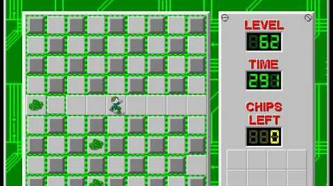 Chip's Challenge 1 level 62 solution - 282 seconds