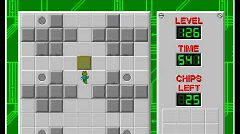 Chip's Challenge 1 level 126 solution - 439 seconds