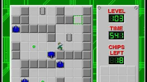 Chip's Challenge 1 level 103 solution - 488 seconds