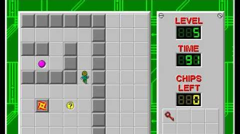 Chip's Challenge 1 level 5 solution - 85 seconds