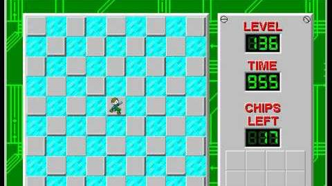 Chip's Challenge 1 level 136 solution - 891 seconds