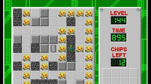 Chip's Challenge 1 level 144 solution - 832 seconds