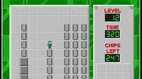 Chip's Challenge 1 level 12 solution - 270 seconds