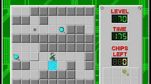 Chip's Challenge 1 level 70 solution - 136 seconds