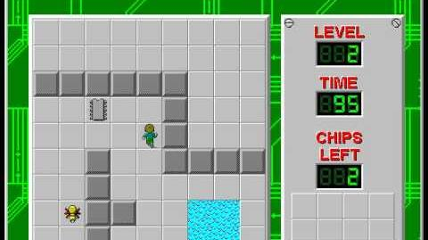 Chip's Challenge 1 level 2 solution - 90 seconds