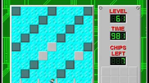 Chip's Challenge 1 level 61 solution - 950 seconds