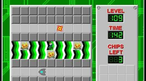 Chip's Challenge 1 level 109 solution - 133 seconds