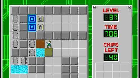 Chip's Challenge 1 level 37 solution - 597 seconds