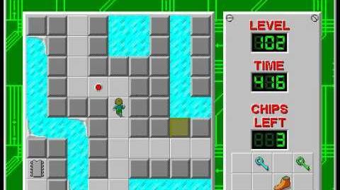 CCLP2 level 102 solution - 371 seconds