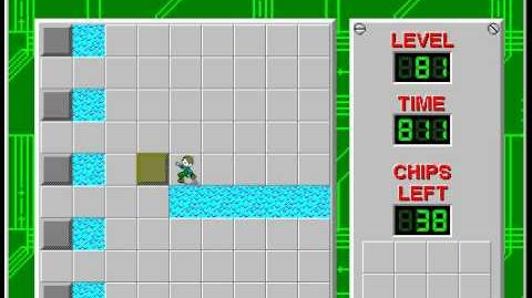 Chip's Challenge 1 level 81 solution - 512 seconds