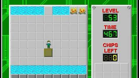 Chip's Challenge 1 level 53 solution - 449 seconds