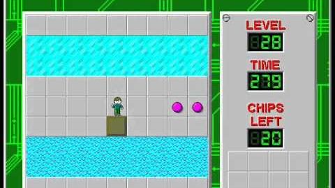Chip's Challenge 1 level 28 solution - 239 seconds