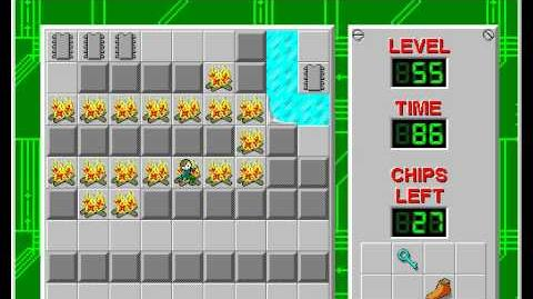 Chip's Challenge 1 level 55 solution - 70 seconds