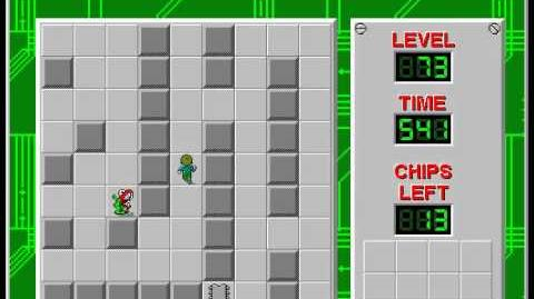 Chip's Challenge 1 level 73 solution - 485 seconds