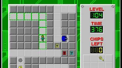CCLP2 level 104 solution - 341 seconds