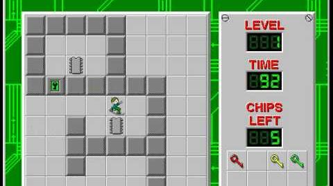 Chip's Challenge 1 level 1 solution - 83 seconds