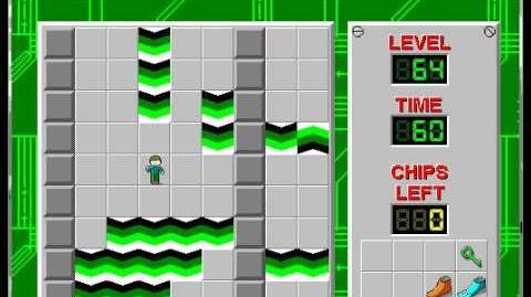 CCLP1 level 64 solution - 44 seconds