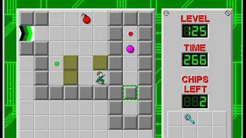 CCLP2 level 125 solution - 232 seconds