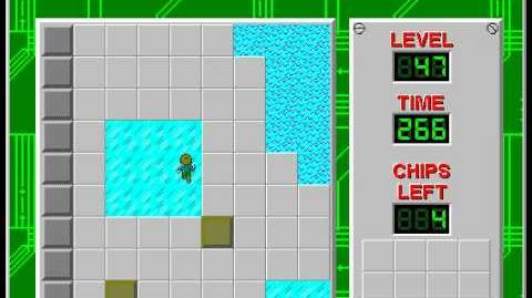 Chip's Challenge 1 level 47 solution - 231 seconds
