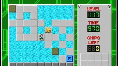 Chip's Challenge 1 level 117 solution - 942 seconds