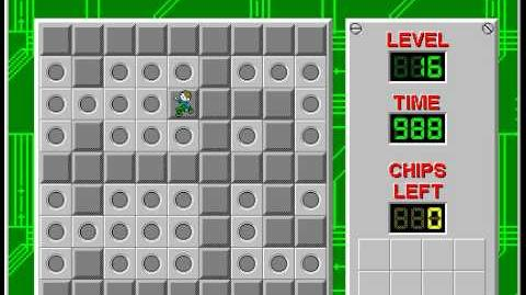 Chip's Challenge 1 level 16 solution - 971 seconds