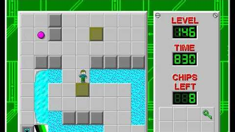 Chip's Challenge 1 level 146 solution - 712 seconds