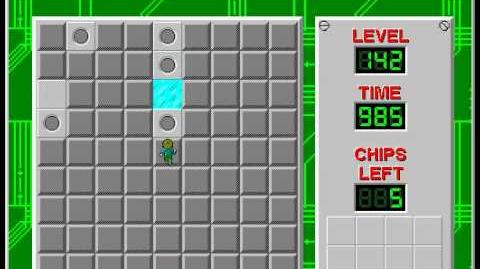 Chip's Challenge 1 level 142 solution - 968 seconds