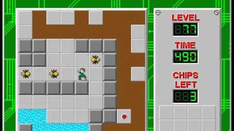 Chip's Challenge 1 level 77 solution - 481 seconds