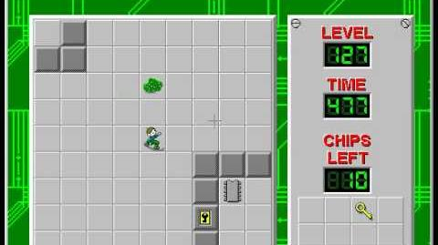 Chip's Challenge 1 level 127 solution - 454 seconds