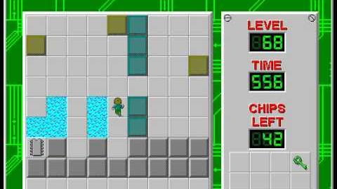 Chip's Challenge 1 level 68 solution - 489 seconds