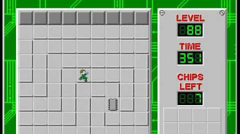 Chip's Challenge 1 level 88 solution - 303 seconds (Corrupted)