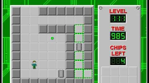 Chip's Challenge 1 level 111 solution - 963 seconds
