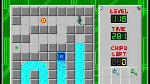 Chip's Challenge 1 level 118 solution - 260 seconds