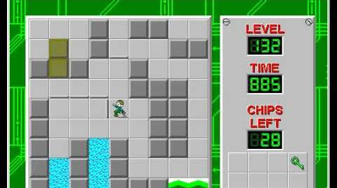 Chip's Challenge 1 level 132 solution - 683 seconds