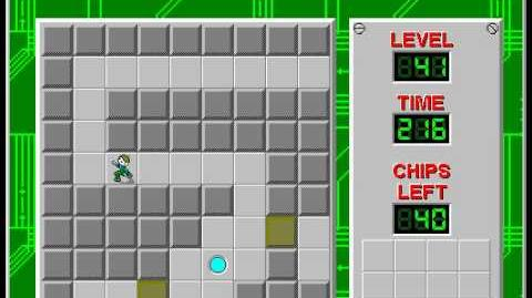Chip's Challenge 1 level 41 solution - 172 seconds