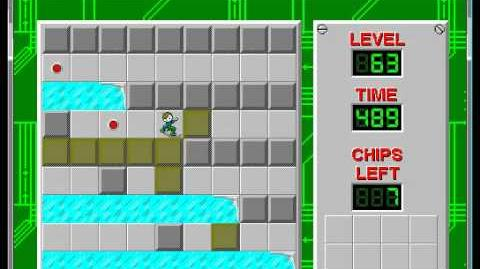 Chip's Challenge 1 level 63 solution - 477 seconds