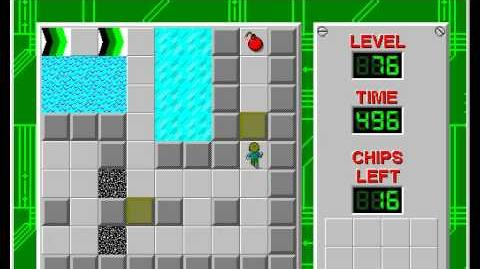 Chip's Challenge 1 level 76 solution - 416 seconds